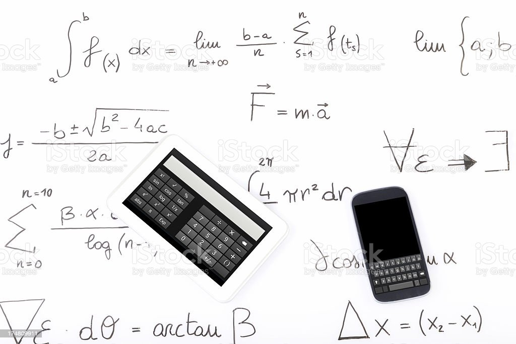 Formula W Smart Phone and Digital Tablet royalty-free stock photo