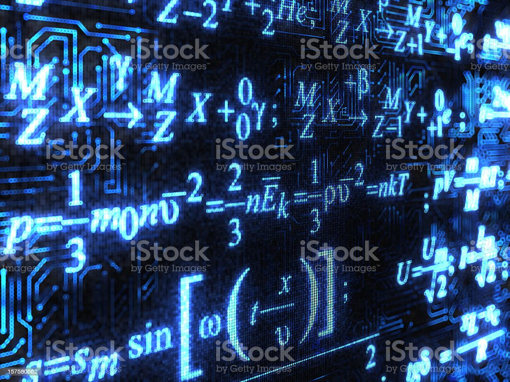 Formulas background stock photo