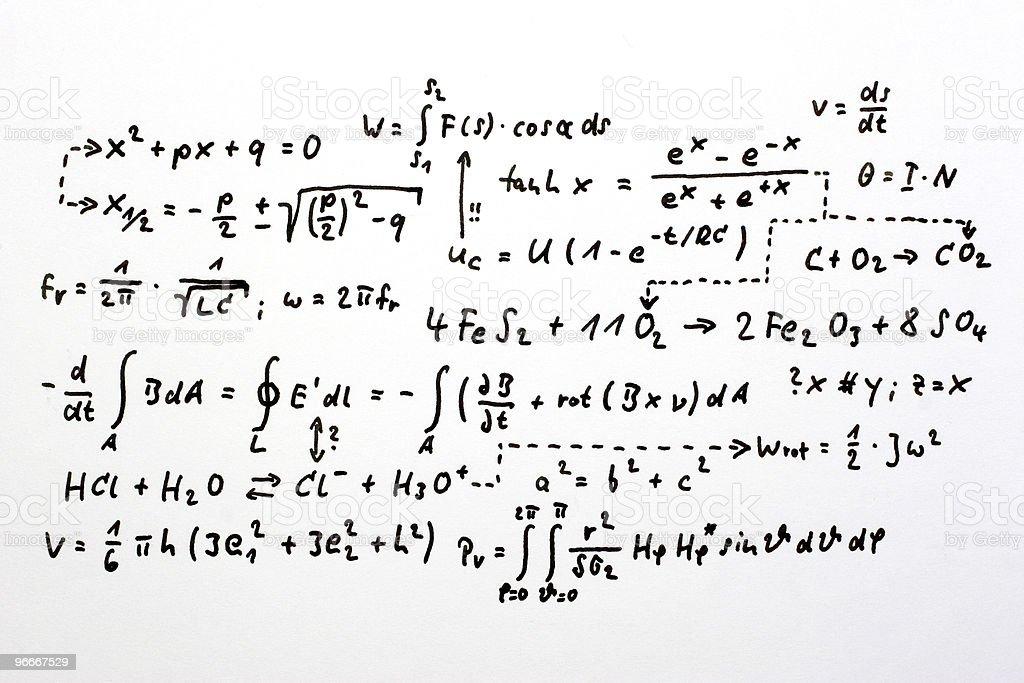 Formulas royalty-free stock photo