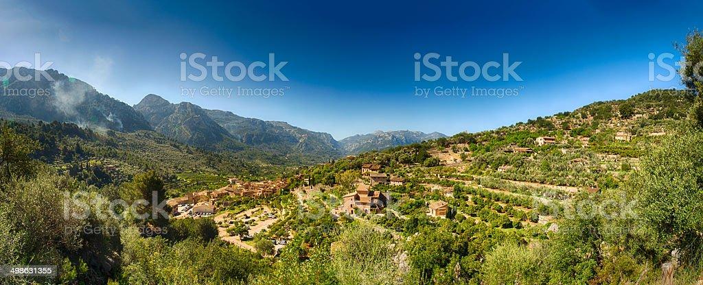 Fornalutx Village Majorca stock photo