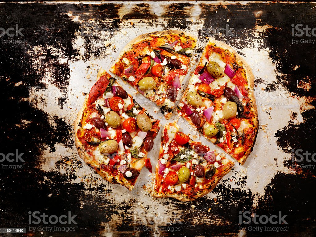 Forno Oven Pizza, Mediterranean Pizza stock photo