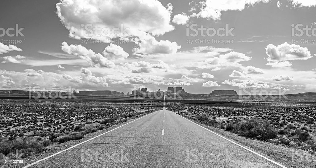 Forrest Gump Point Monument Valley Panorama stock photo
