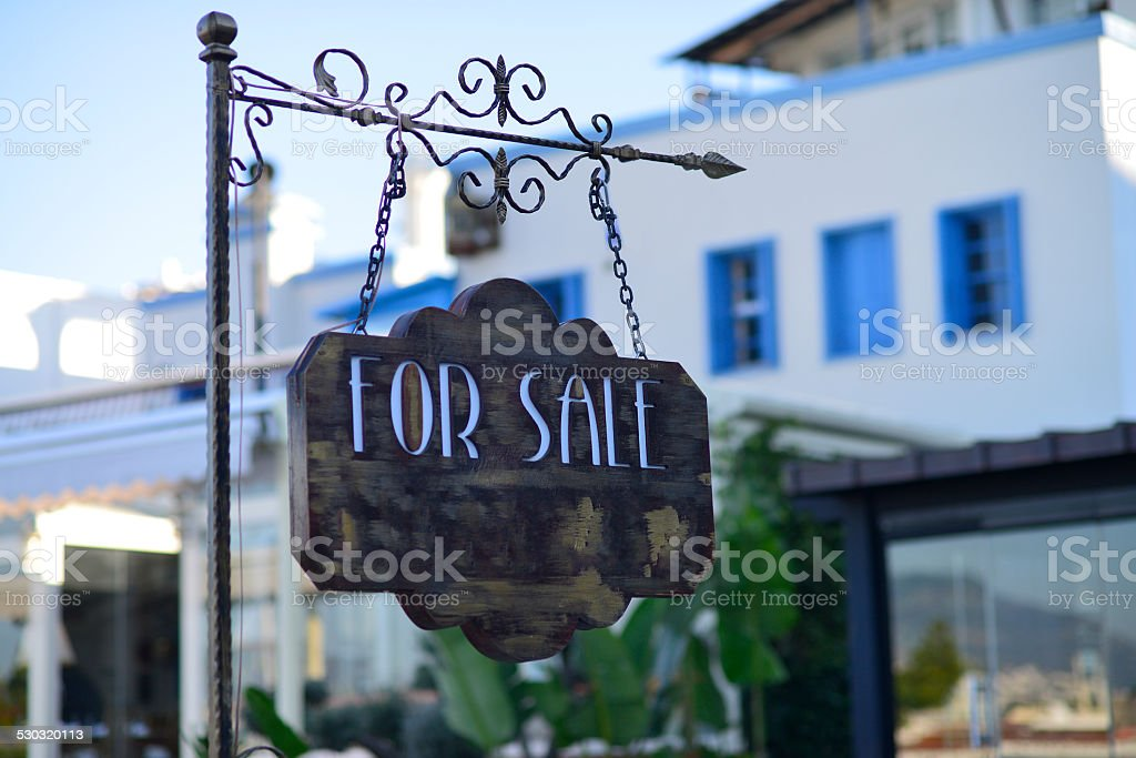 Forsale Sign stock photo