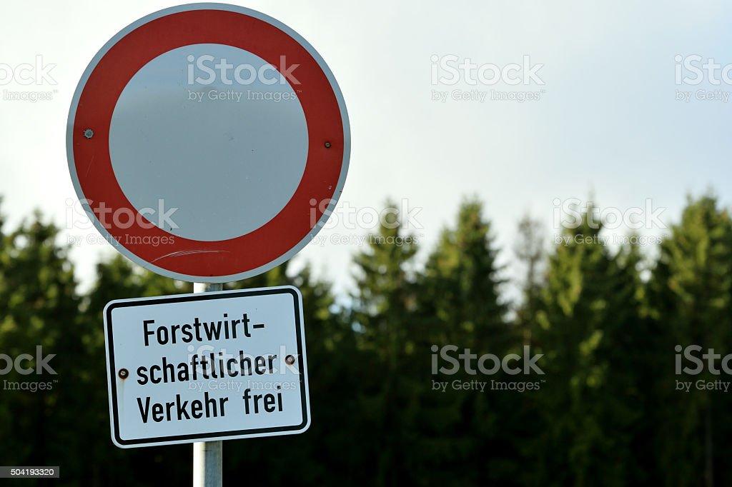 Forstbetrieb stock photo