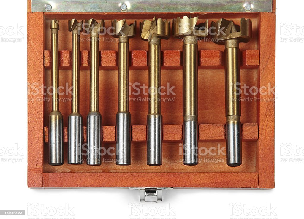 Forstner Drill Bit Set stock photo
