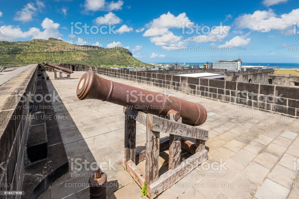 Fort Adelaide in Port Louis, Mauritius stock photo