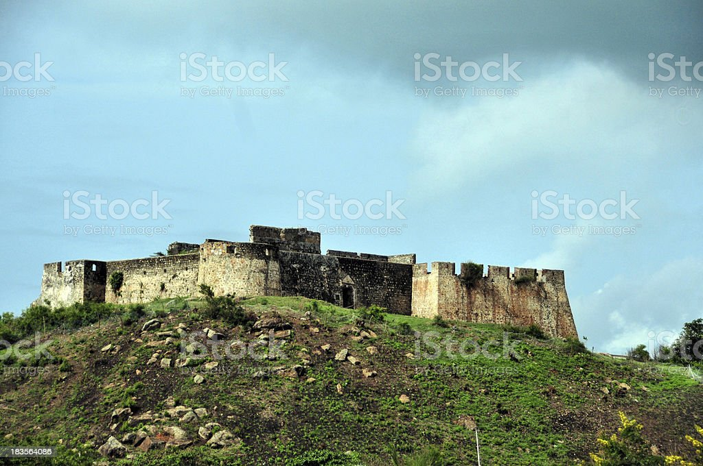 Fort Amsterdam, Abandze, Central Region, Ghana, West Africa royalty-free stock photo