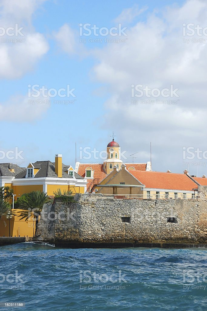 Fort Amsterdam, Willemstad, Curacao stock photo