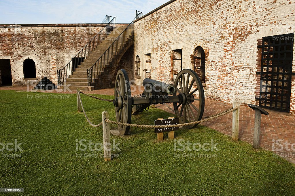 Fort and canon stock photo
