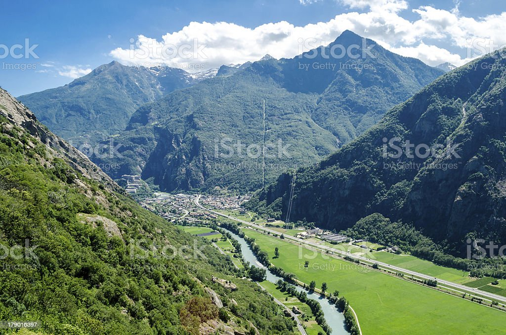 Fort Bard, Aosta Valley, Italy royalty-free stock photo