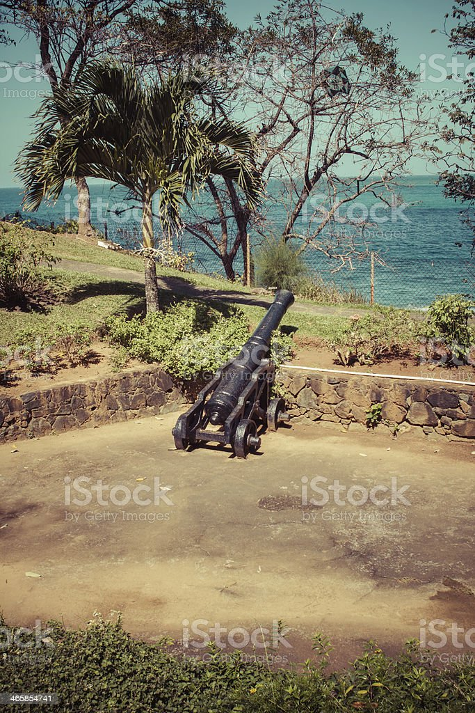Fort Bennett Single Cannon Tobago stock photo