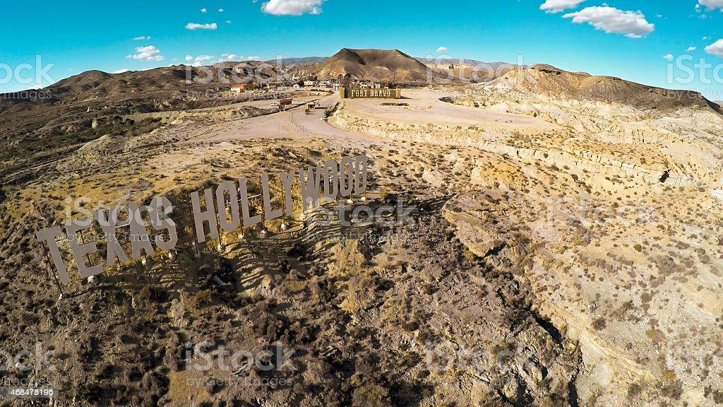 Fort Bravo - Texas Hollywood Sign stock photo