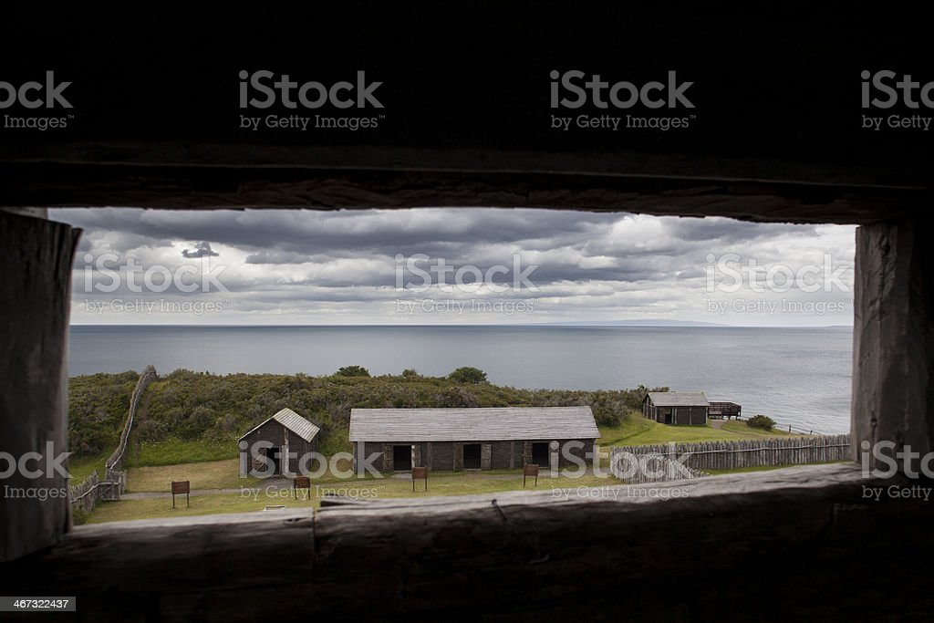 Fuerte Bulnes royalty-free stock photo