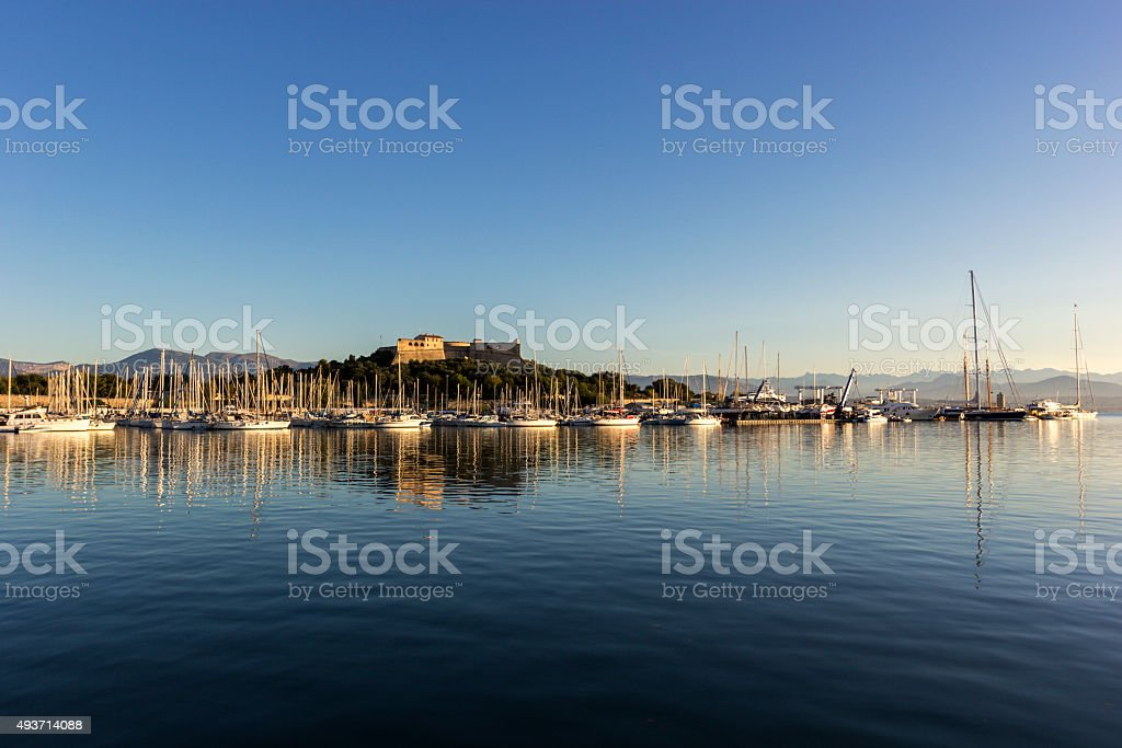 Fort Carre in Antibes in France in the morning stock photo