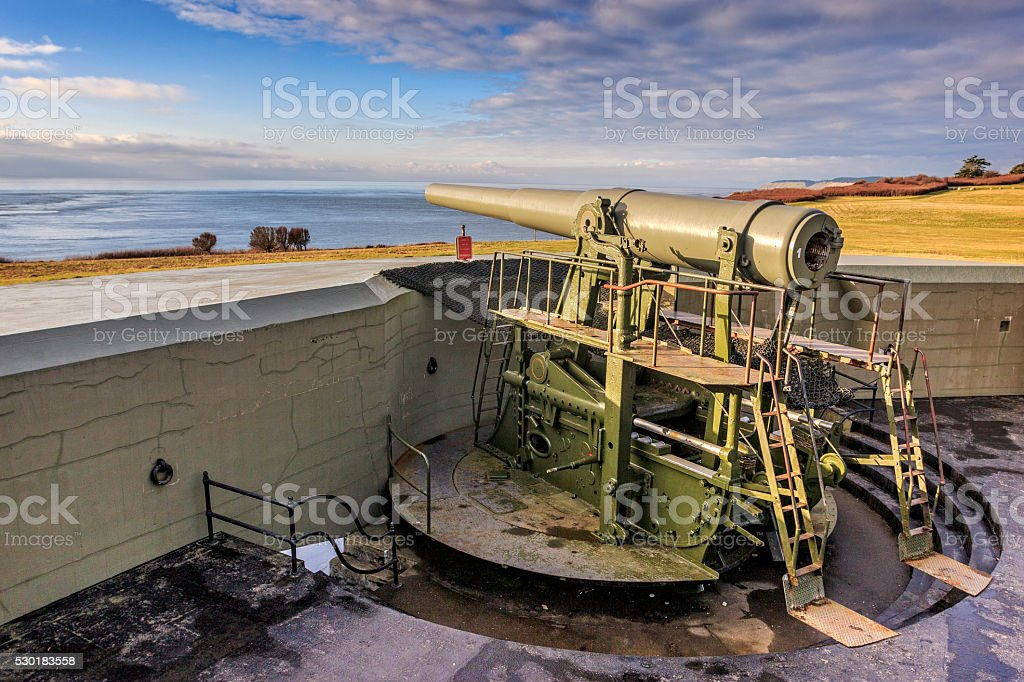 Fort Casey Artillery stock photo