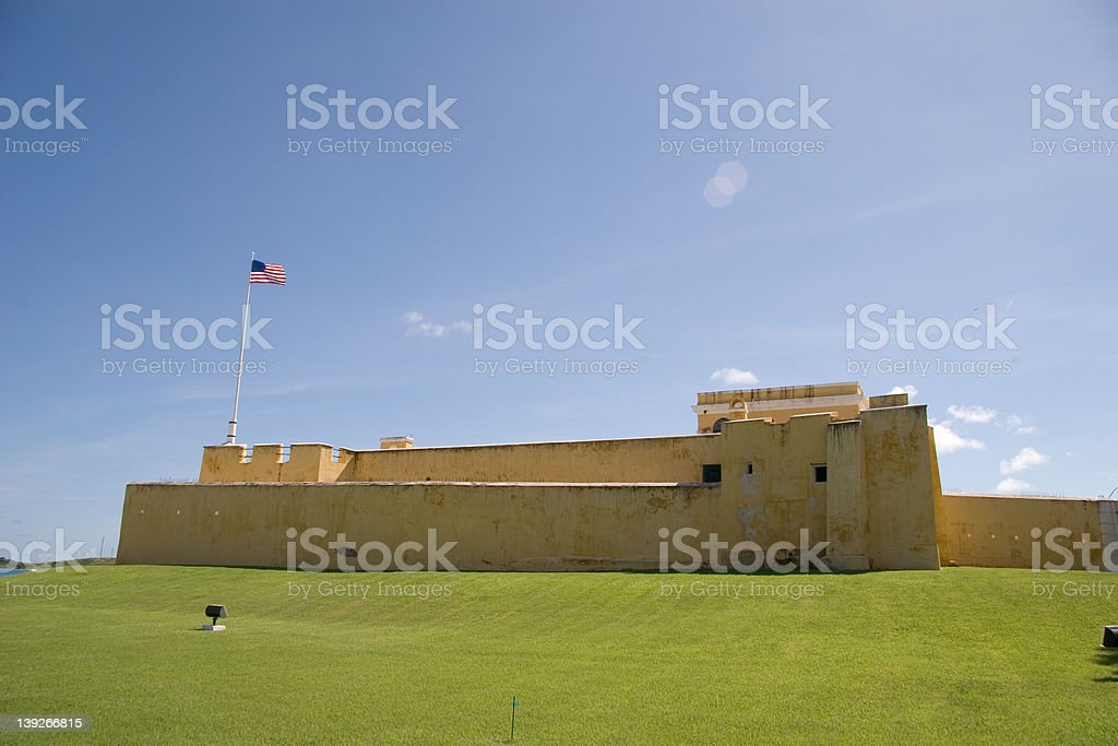 Fort Christiansvaern from the side stock photo
