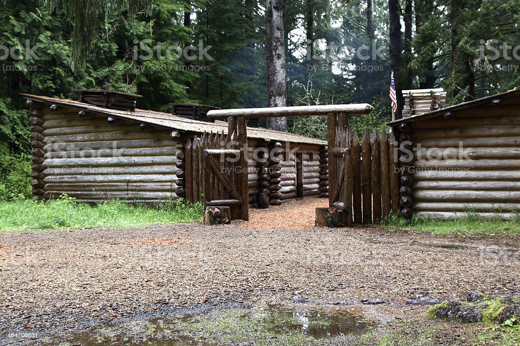 Fort Clatsop In Oregon stock photo