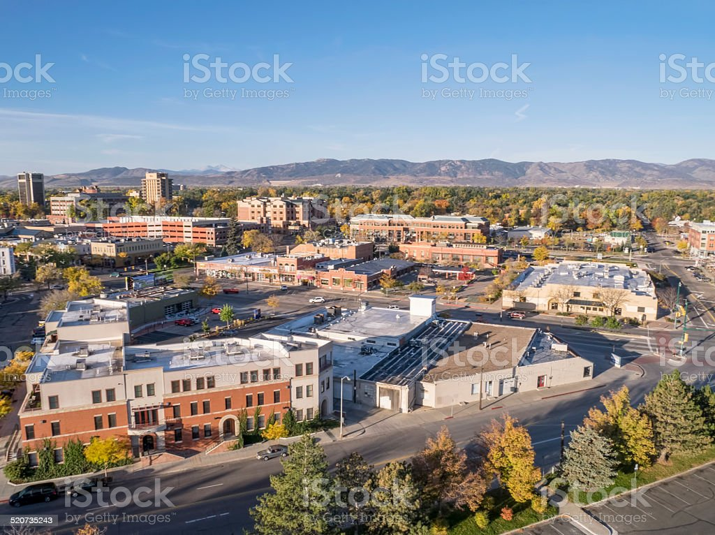 Fort Collins downtown stock photo