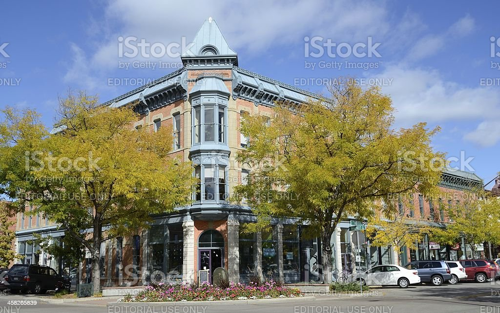 Fort Collins in Autumn stock photo