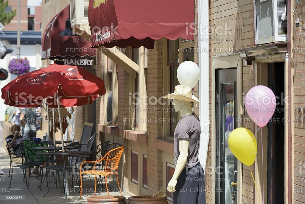 Fort Collins Street Scene royalty-free stock photo