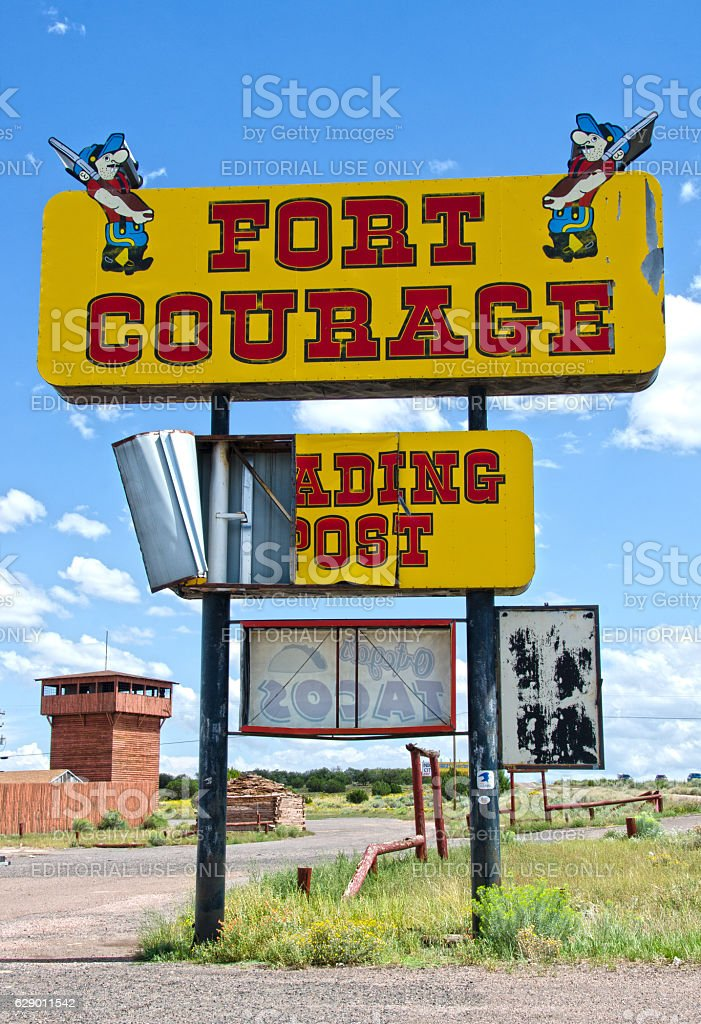 Fort Courage on Route 66 stock photo