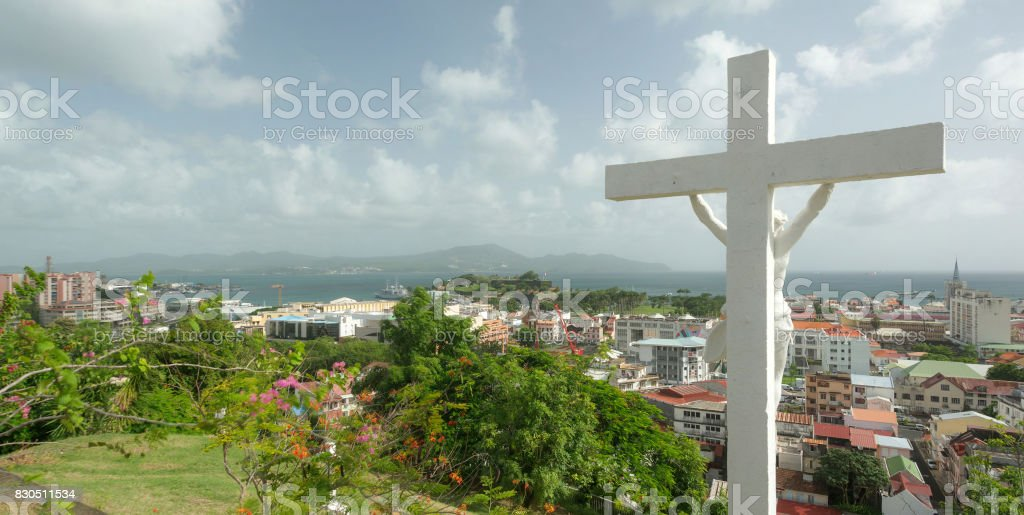 Fort de France, Martinique stock photo