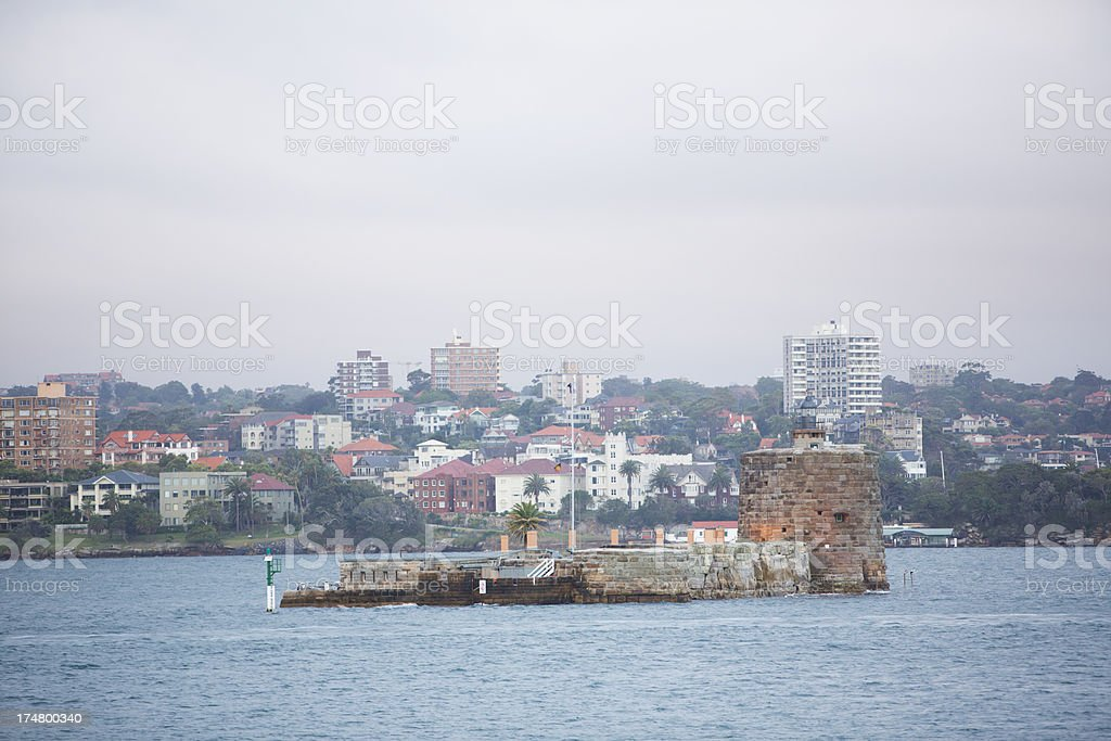Fort Denison, Sydney Harbour royalty-free stock photo