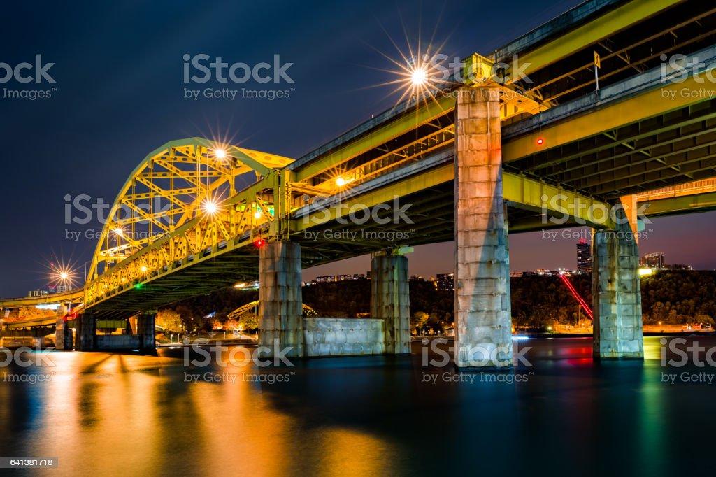 Fort Duquesne Bridge stock photo