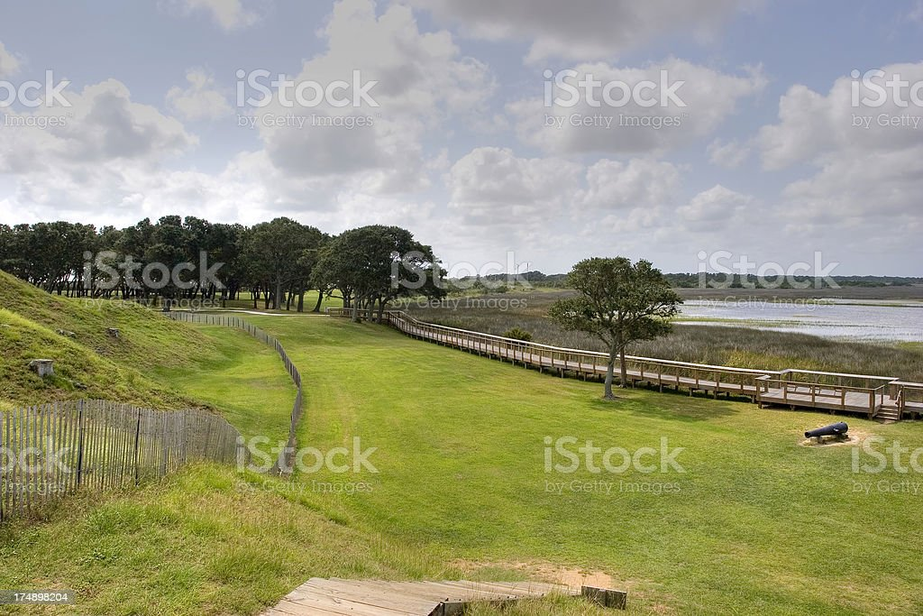 Fort Fisher From Top royalty-free stock photo