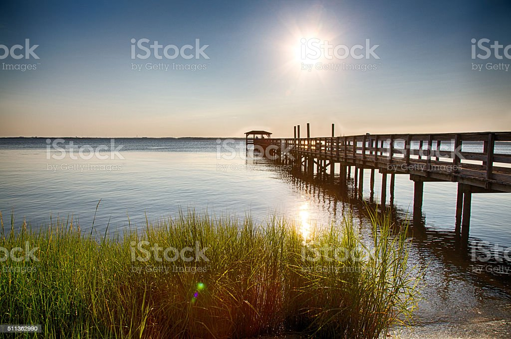 Fort FIsher Recreation Area stock photo