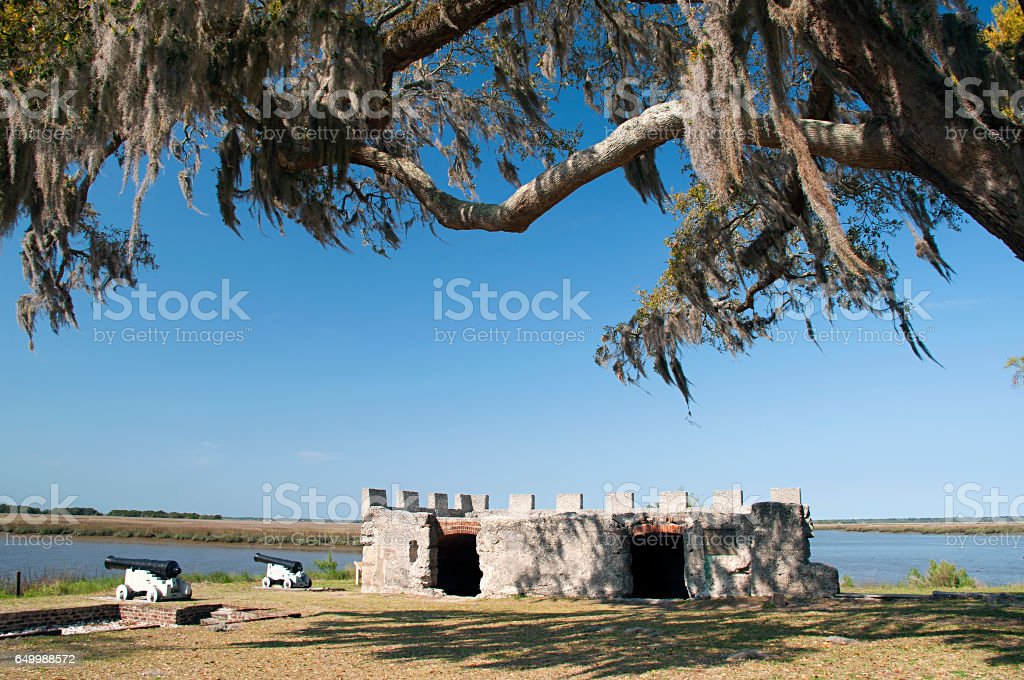 Fort Frederica National Monument stock photo