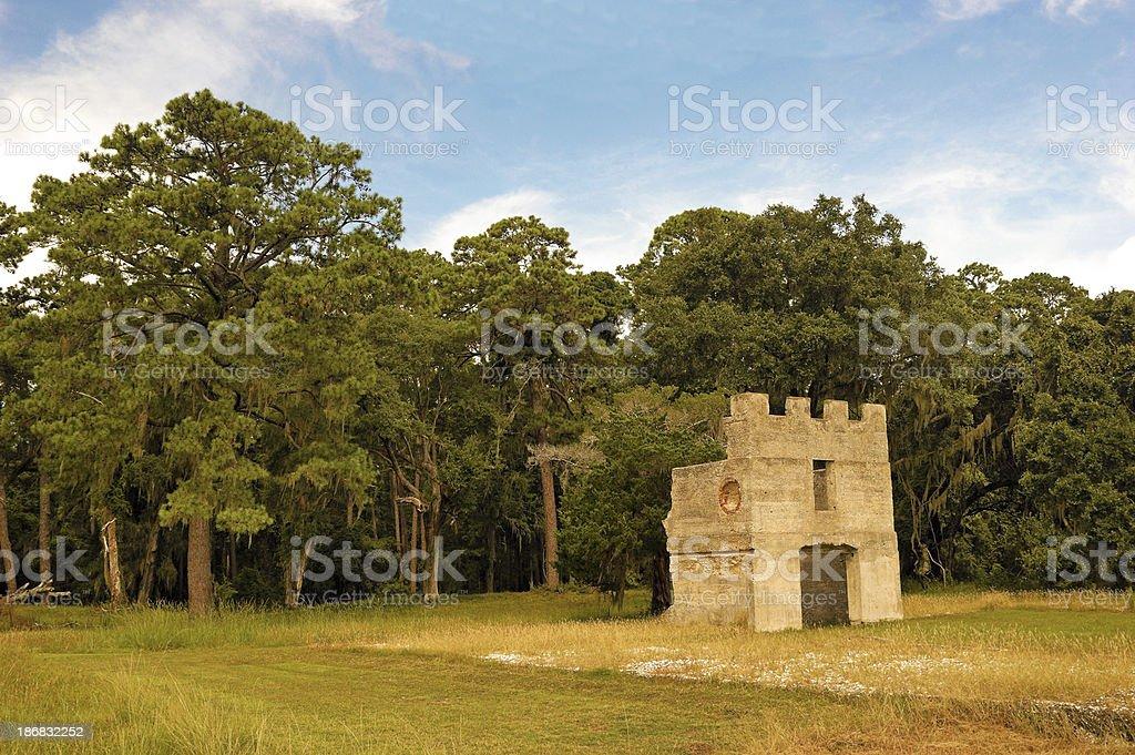 Fort Frederica St. Simons Island Georgia stock photo