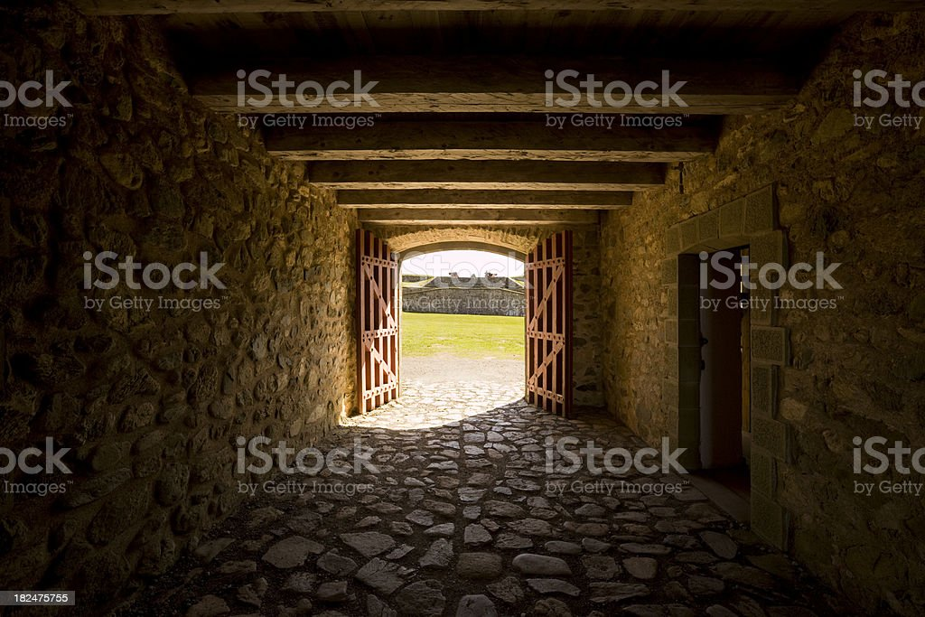 Fort Gate stock photo