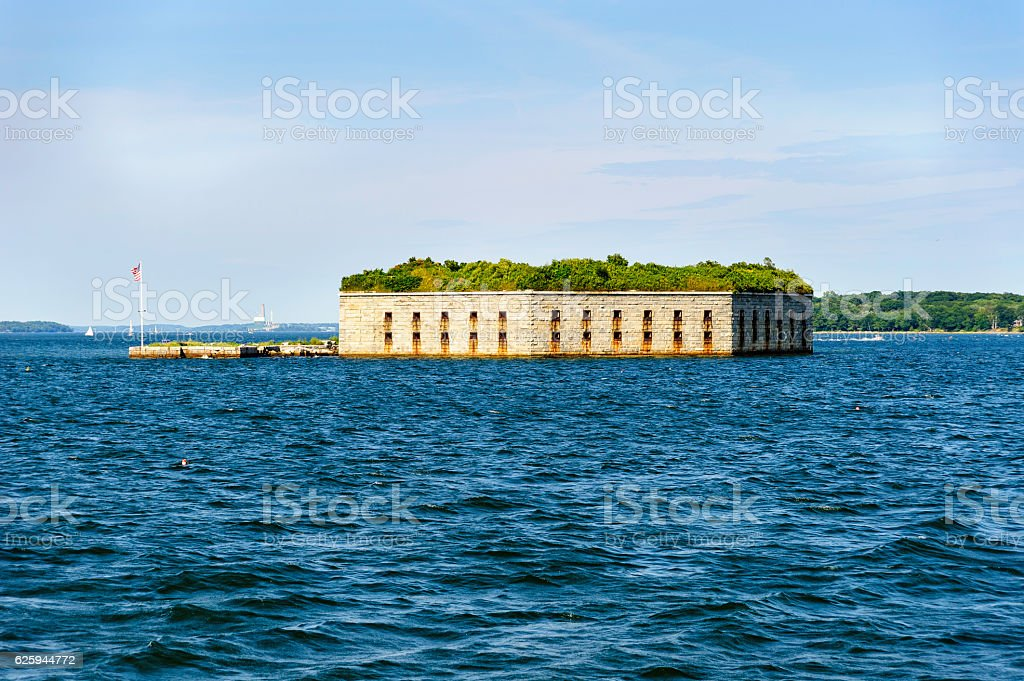 Fort Gorges Casco Bay stock photo