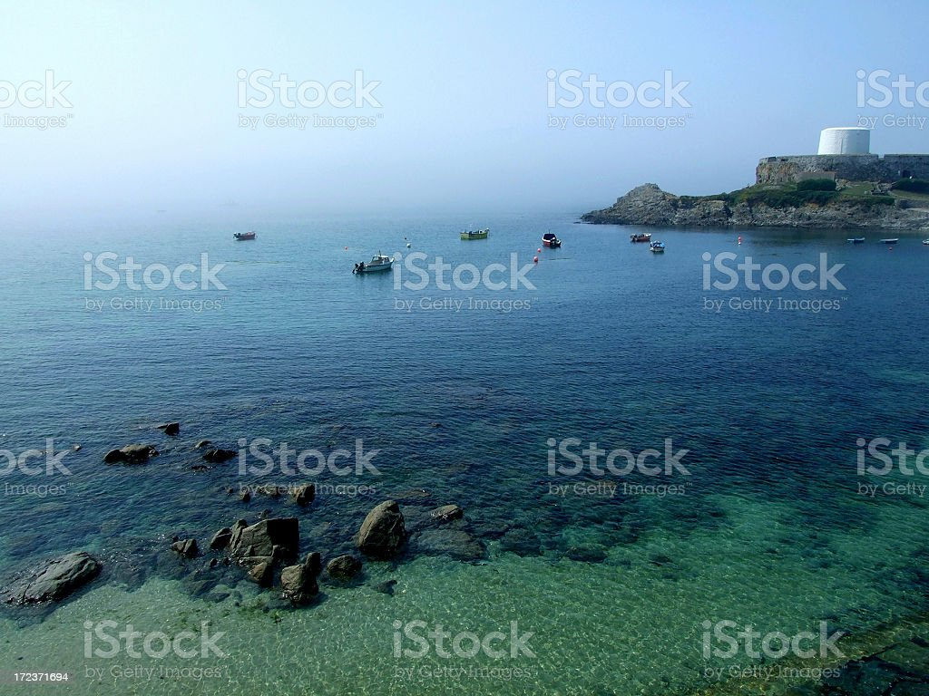 Fort Grey, Guernsey stock photo