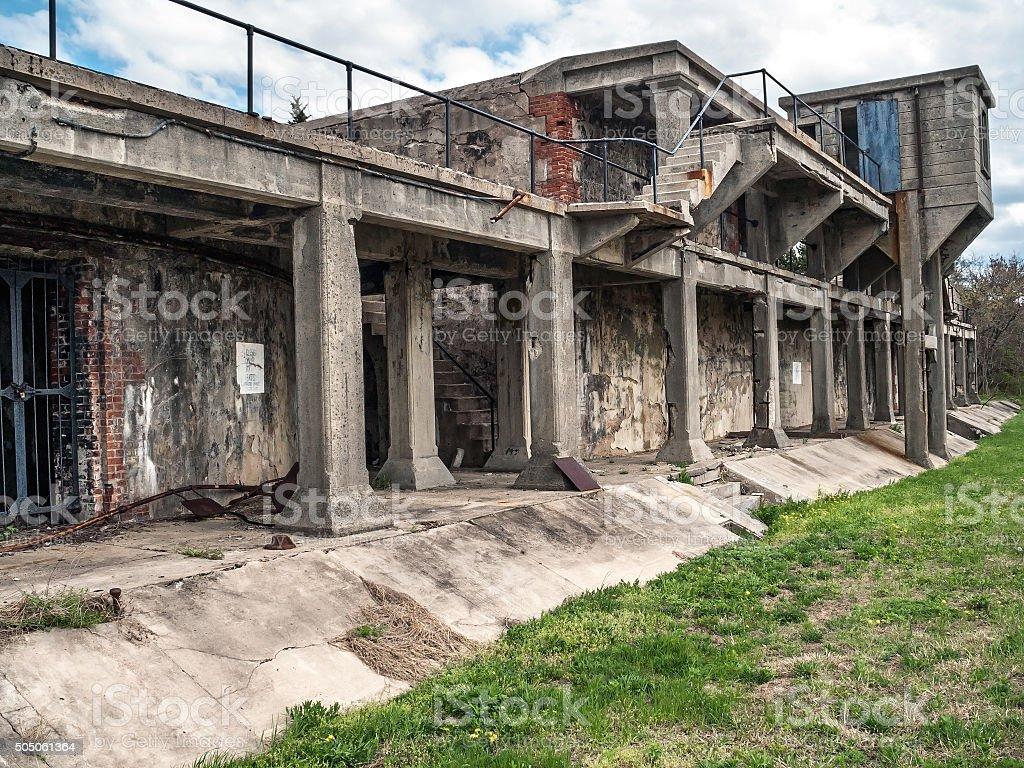 Fort Hancock Battery stock photo