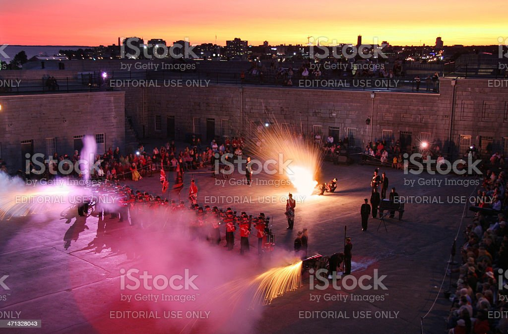 Fort Henry Firing Line royalty-free stock photo