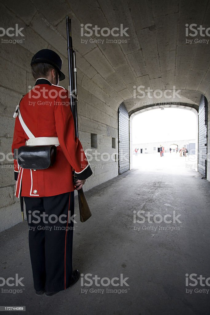 Fort Henry Guard royalty-free stock photo