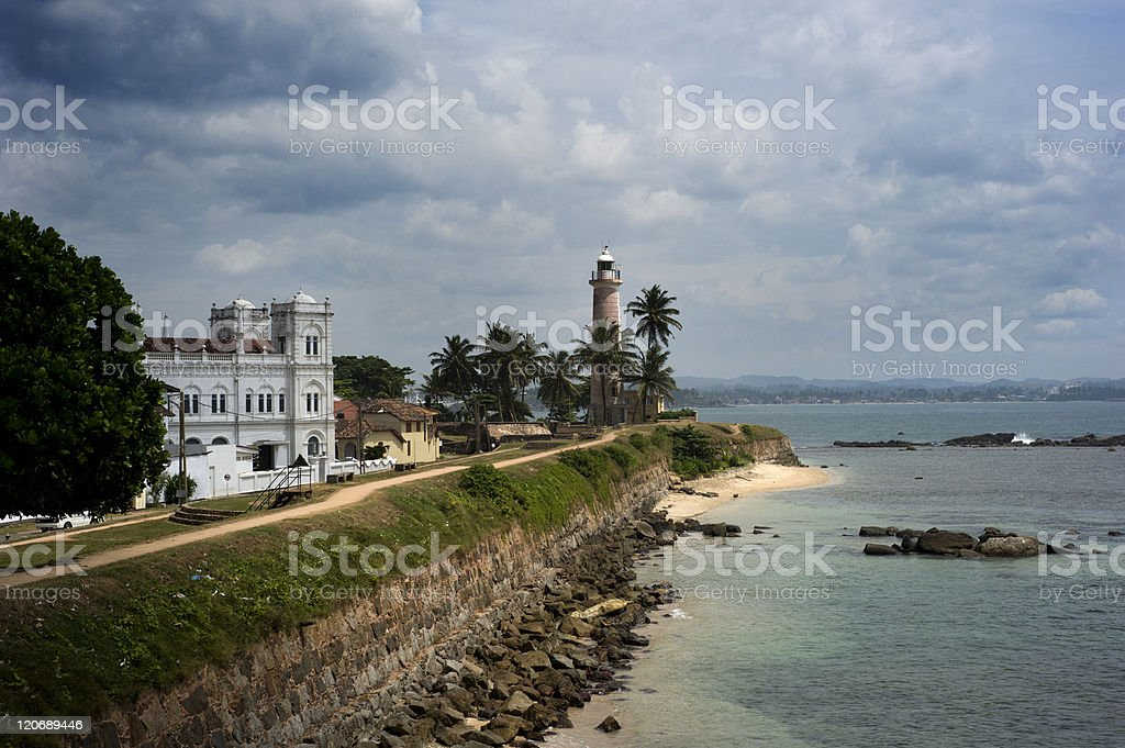 Fort in Galle royalty-free stock photo