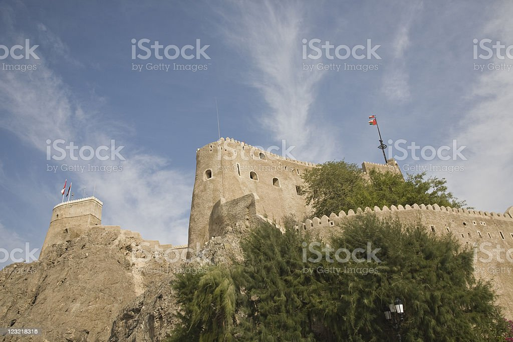 Fort in oman stock photo