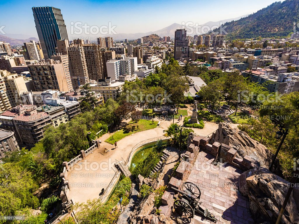 Fort in Santiago, Chile stock photo