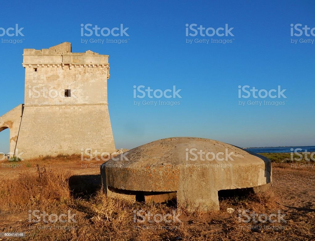 Fortino a Torre Squillace stock photo