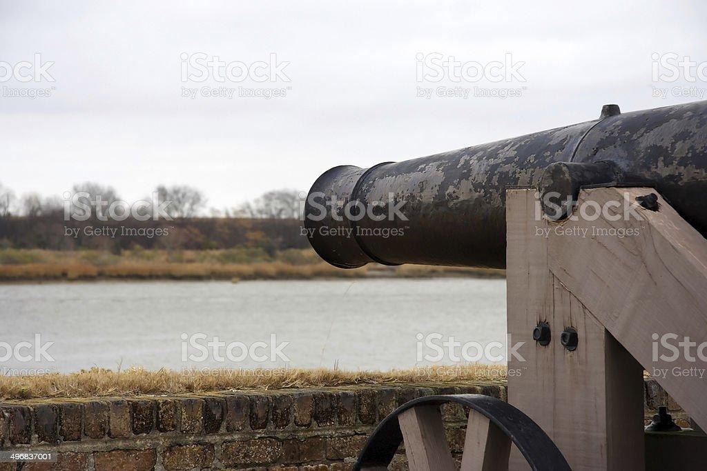 Fort Jackson Artillery stock photo