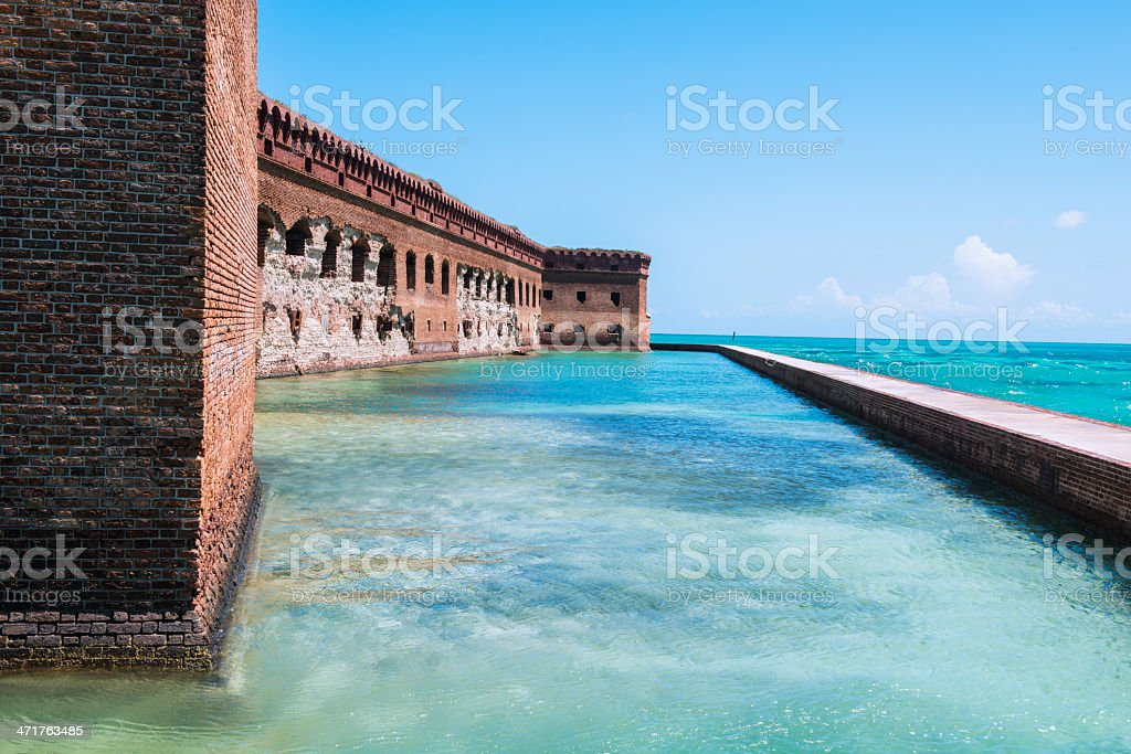 Fort Jefferson Military Fortress in the Dry Tortugas National Park stock photo