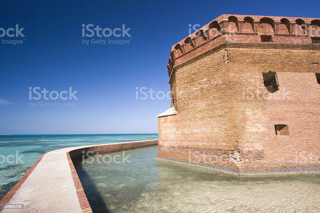 Fort Jefferson stock photo