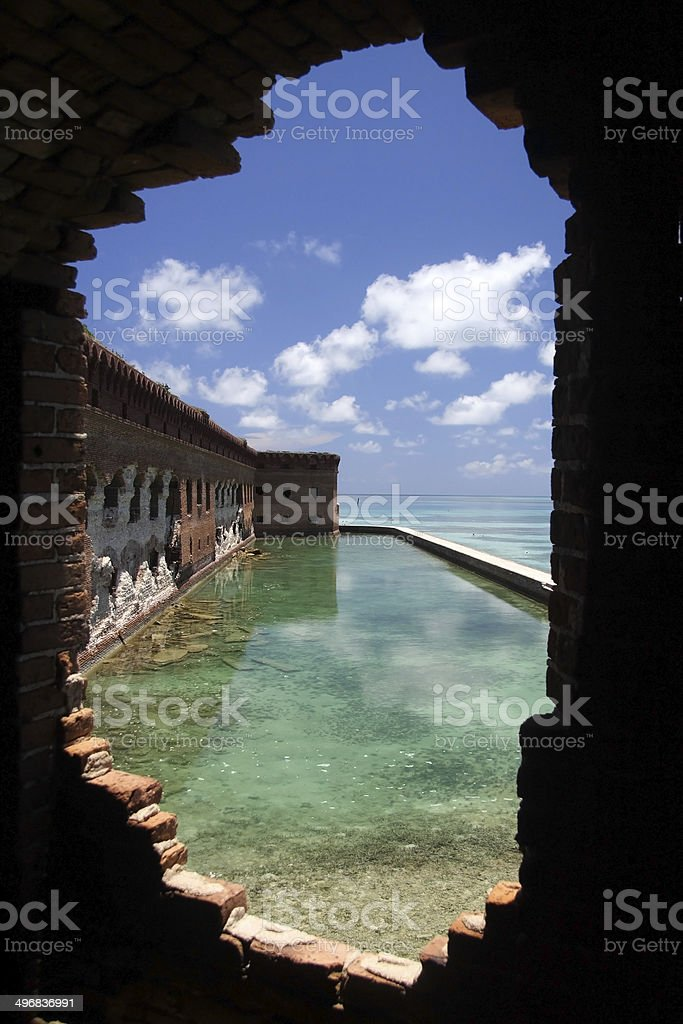 Fort Jefferson Window stock photo
