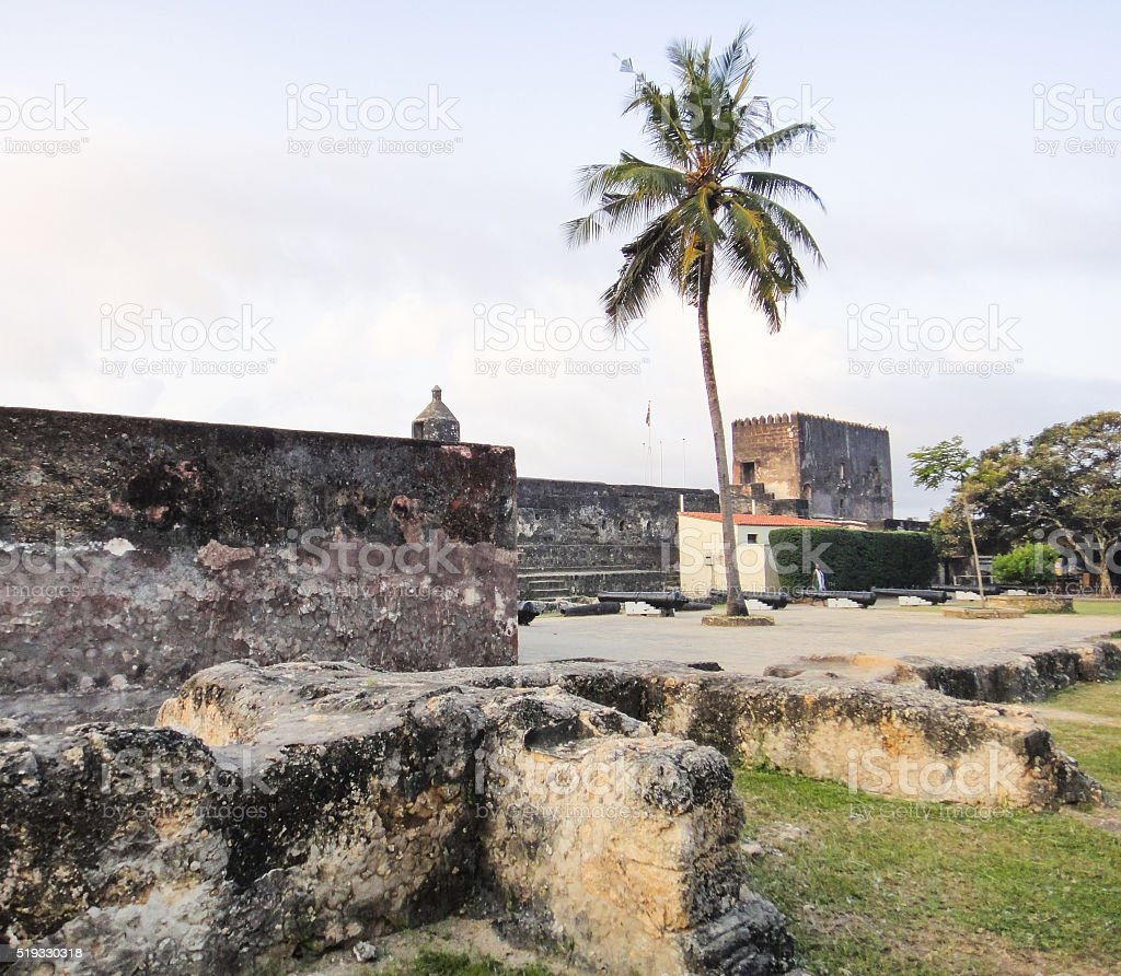 Fort Jesus in Mombasa, Kenya. Eastern Africa stock photo