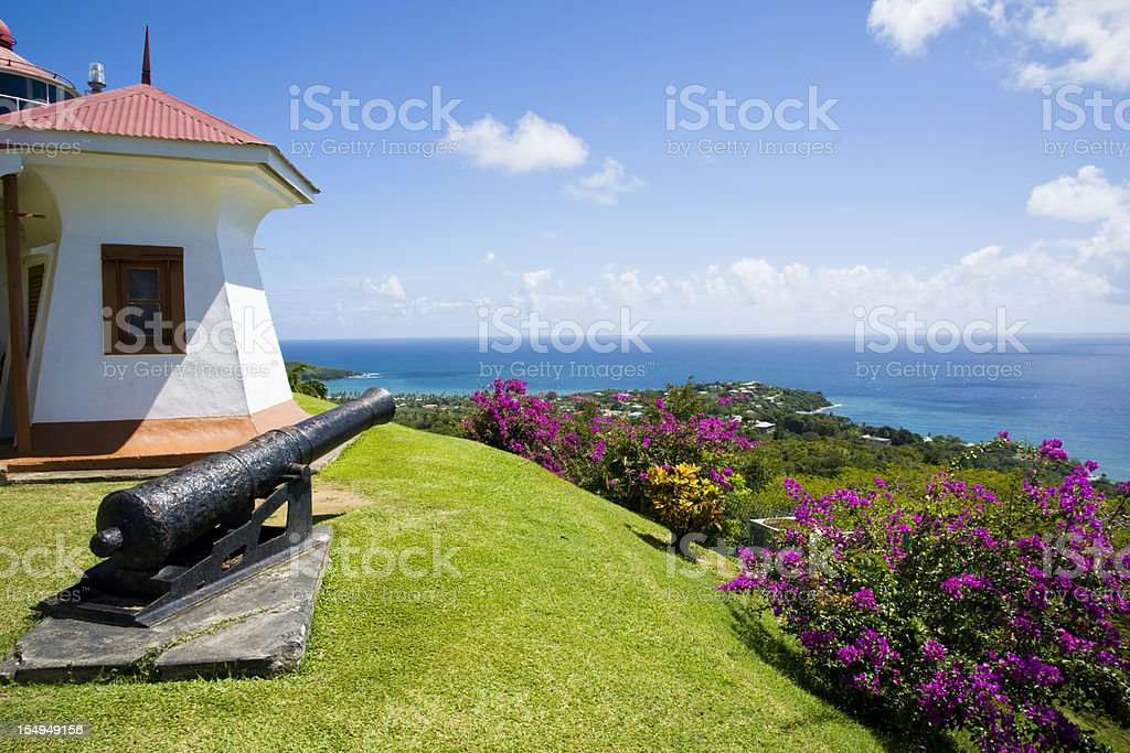 Fort King George stock photo