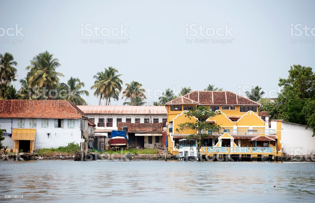 Fort Kochi waterfront - Cochin, India stock photo