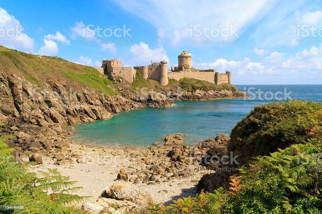 Fort La Latte, Brittany, France stock photo